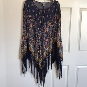 Other - C.Oliver fringed Boho style cover-up L/XL